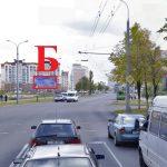 Билборд по ул. Свиридова / ул. П.Бровки (сторона Б)
