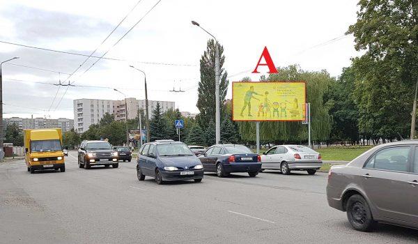 Билборд на перекрёстке пр-т Октября / ул. Бр. Лизюковых (сторона А)