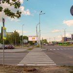 Билборд на перекрестке ул. Борисенко / ул. Междугородняя (сторона Б)