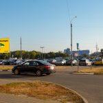 Билборд по ул. Хатаевича, «ЕВРООПТ» — парковка (Сторона Б)
